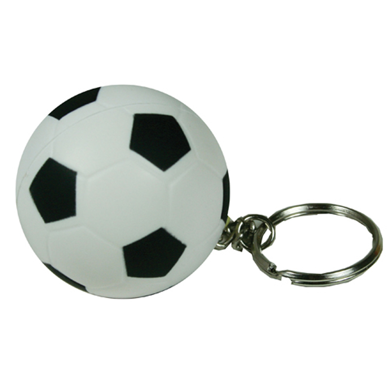 Soccer Ball Squeezie Keyring