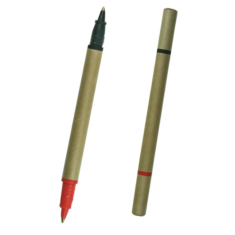 BioDegradable Two Color Cardboard Pen
