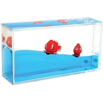Mini Clownfish Liquid Wave Paperweight