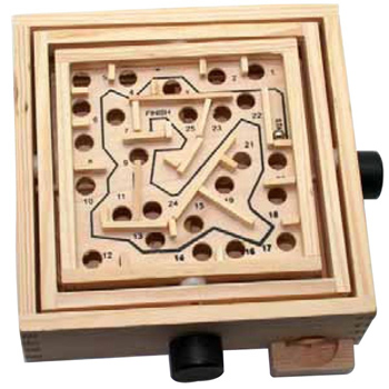 CLOSEOUT: Wooden Double Maze Puzzle