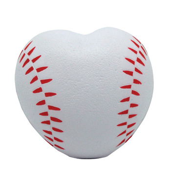 Heart Shaped Baseball Squeezie