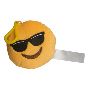 Mr Cool Emoji Plush Keychain