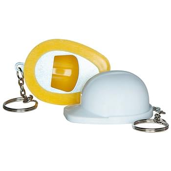 Hard Hat Bottle Opener Keychain